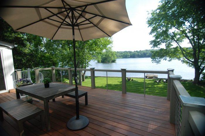 Outdoor scenery deck