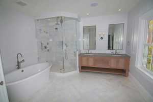 Bathroom in Colonial spec house in CT