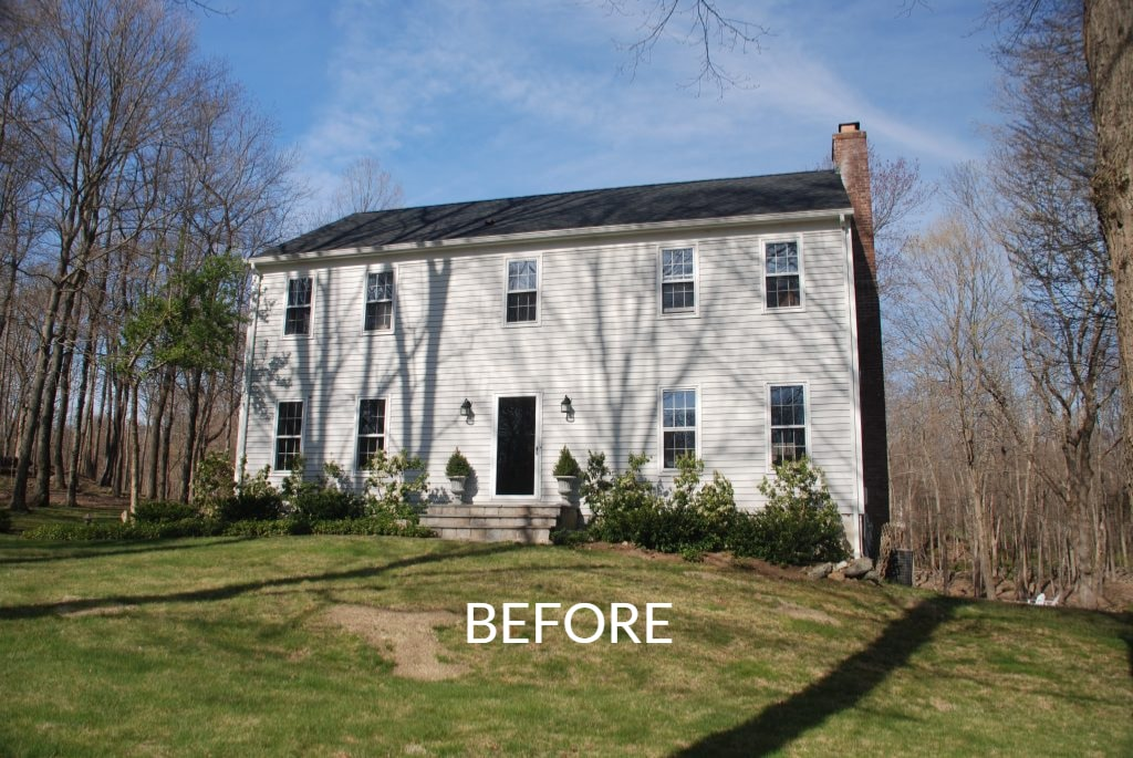 Center Hall Colonial before addition