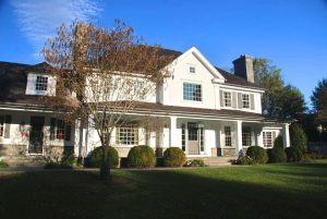 Colonial spec house design in Connecticut by DeMotte Architects