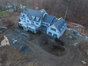 Arial view progress photo drone