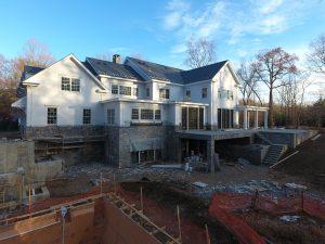 construction photo rear elevation
