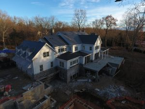 drone view arial progress photo