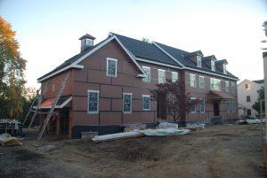 side rear construction progress photo