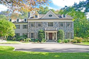 exterior of colonial addition in greenwich ct by demotte architects