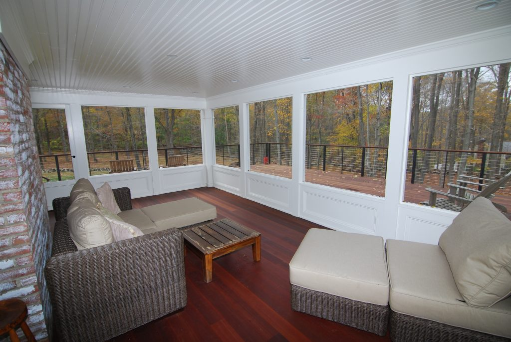 inside porch addition in pound ridge ny by demotte architects