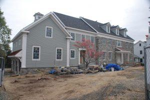 construction progress photo with veneer