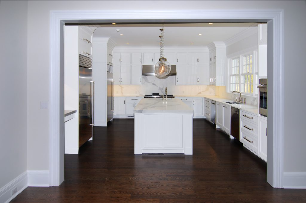 kitchen in greenwich ct colonial spec house