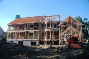 front construction progress shell