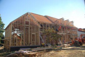 front construction progress