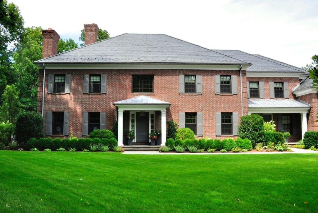 Georgian Colonial home design in Greenwich CT by DeMotte Architects