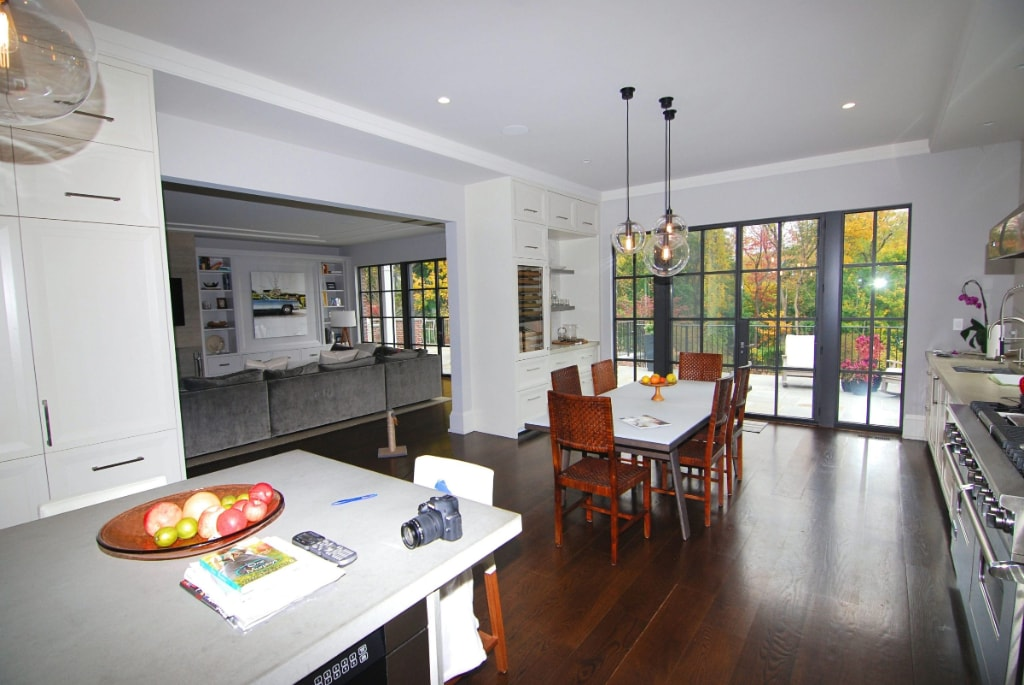 Georgian Colonial home dining and kitchen in Greenwich CT