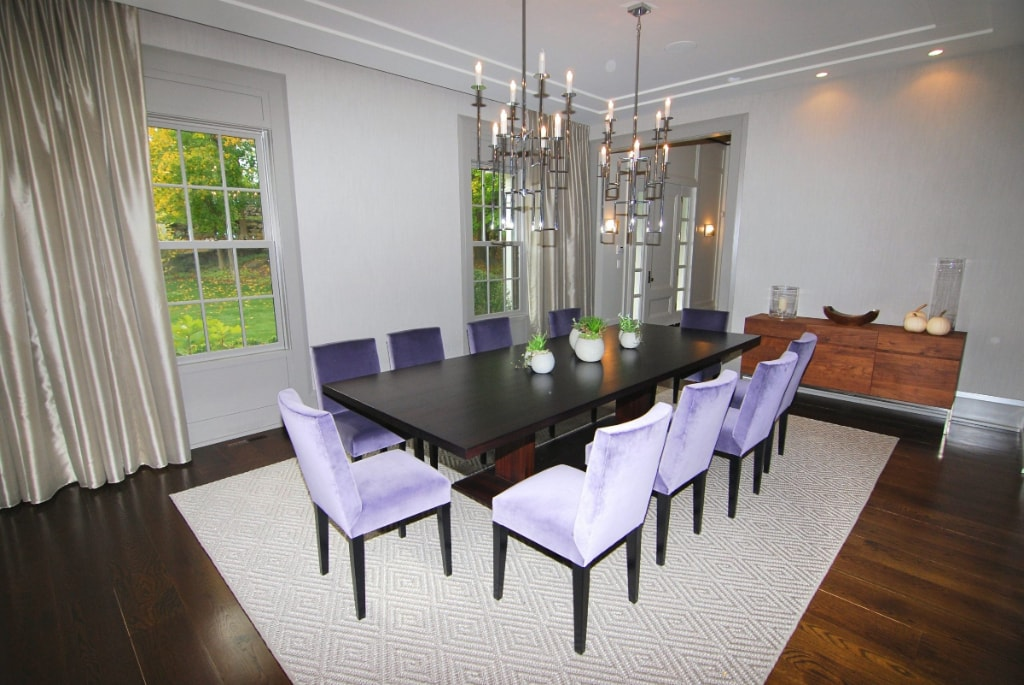 Georgian Colonial home dining room in Greenwich CT