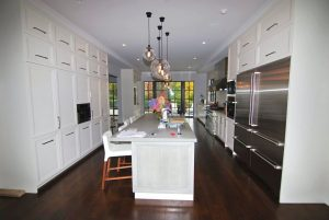 Georgian Colonial home kitchen in CT home design by DeMotte Architects