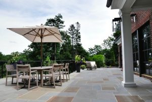 Georgian Colonial home with outdoor entertaining in Greenwich CT