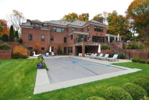 Georgian Colonial home with pool in Greenwich CT