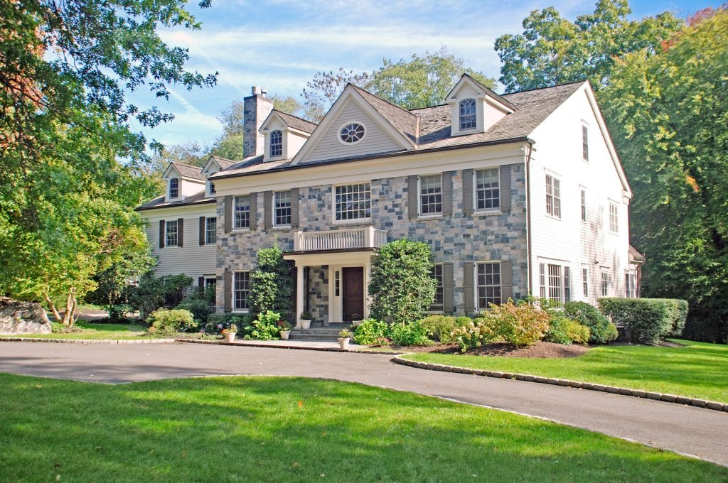 Greenwich CT Colonial home after remodel addition by DeMotte Architects