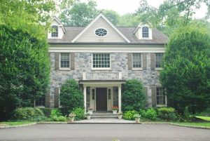 Greenwich CT Colonial home design after remodel