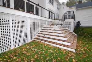 Pound Ridge NY home and deck addition by DeMotte Architects