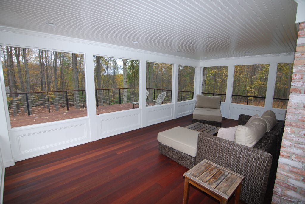 Pound Ridge NY screened porch addition