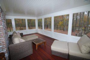 Pound Ridge NY screened porch by DeMotte Architects