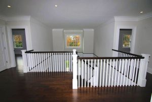 Upstairs hall in Colonial spec house in CT