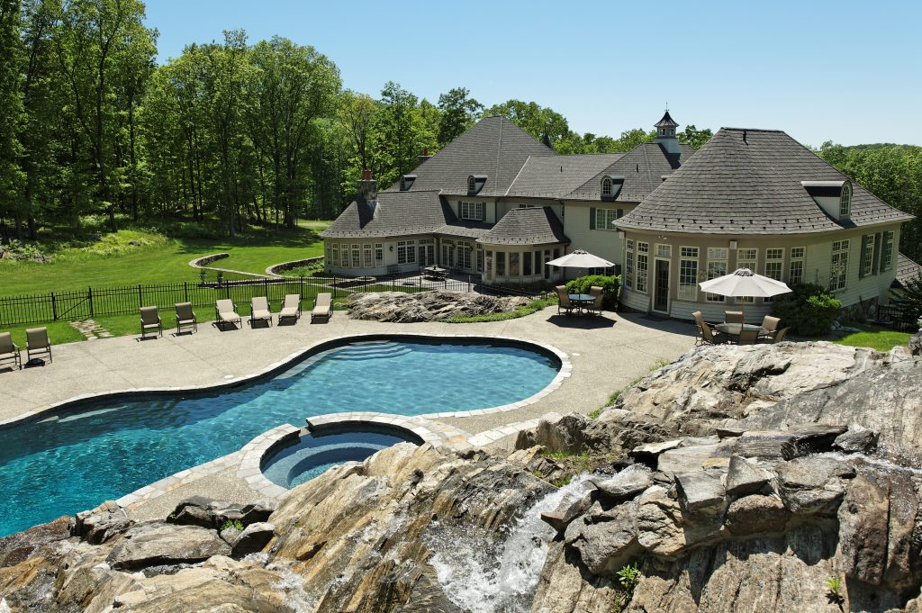 french country home pool katonah ny