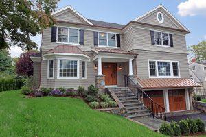 front of shingle style home rye ny