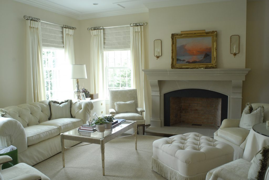 white room with white curtains greenwich ct