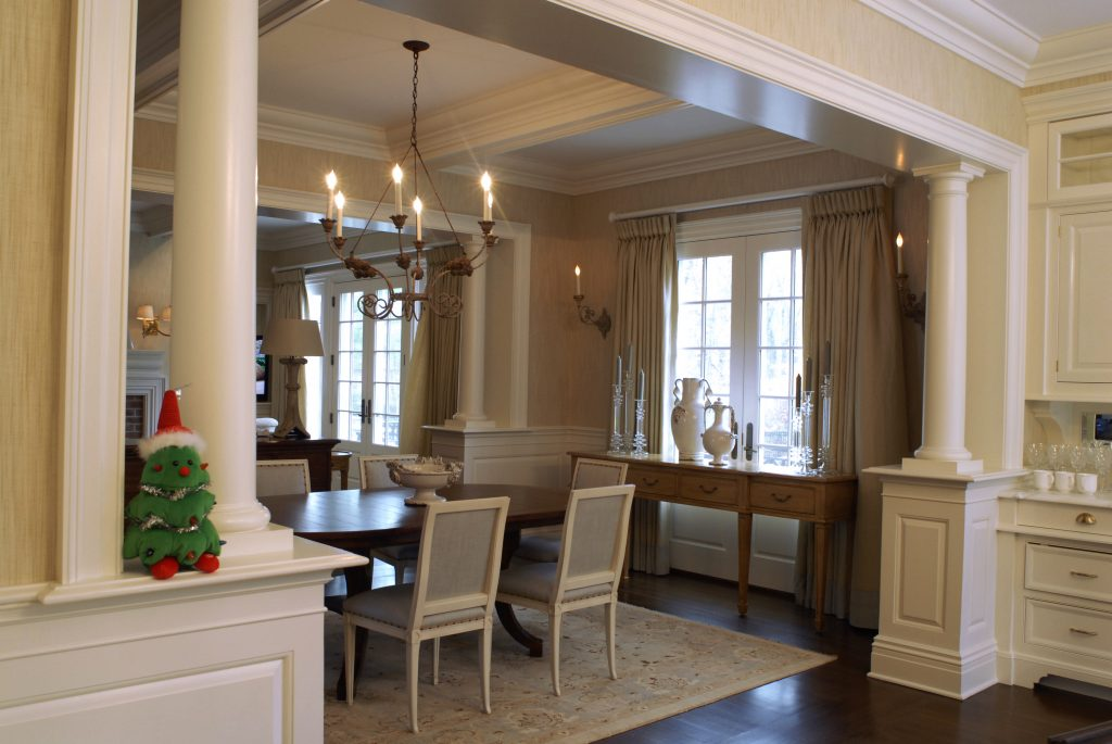 dining area georgian colonial greenwich ct