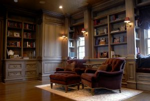 custom library georgian colonial greenwich ct