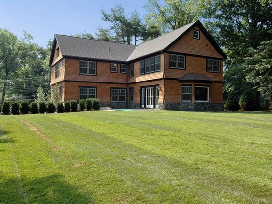rye ny exterior of shingle style home design by demotte architects