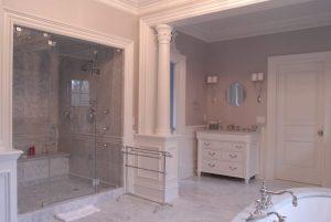 Bathroom in Greenwich Georgian Colonial home