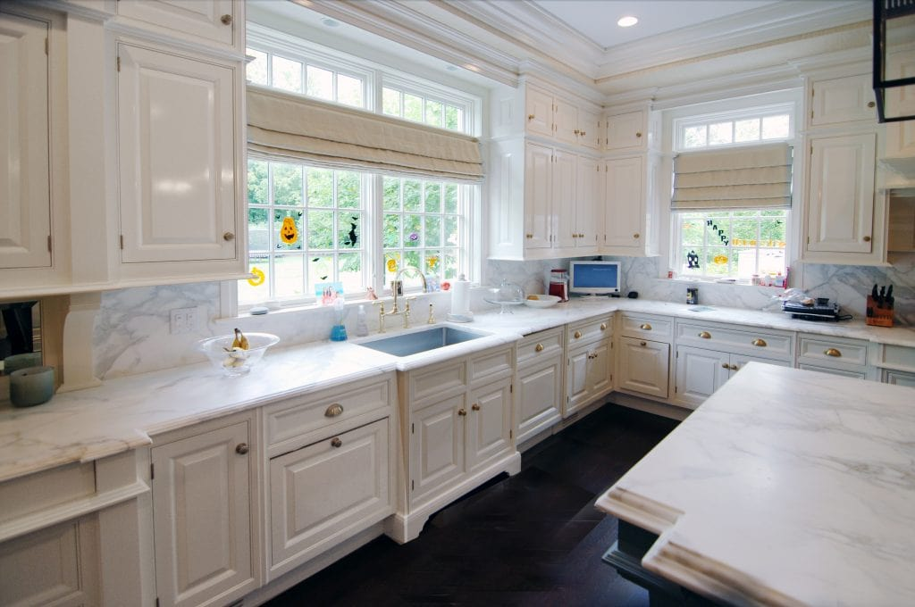 Classic kitchen in Greenwich CT Georgian Colonial home