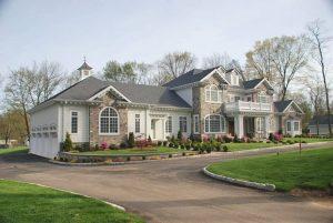 Custom home with balustrade and balcony
