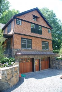shingle home garage in rye ny by demotte architects