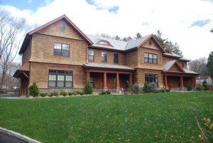shingle style house front elevation