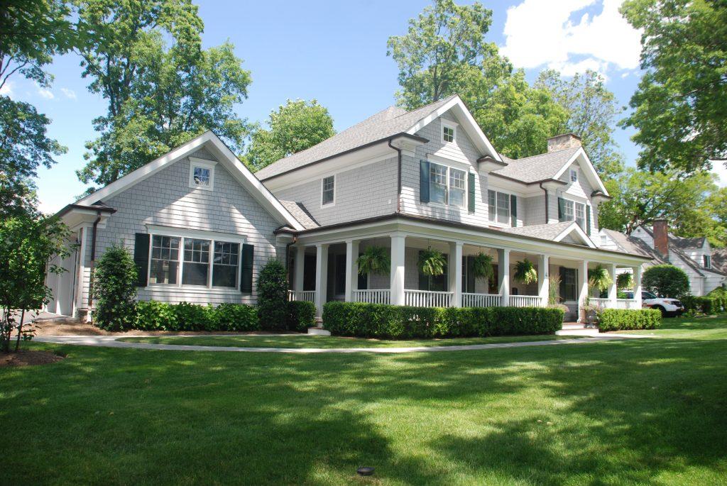 custom colonial home exterior