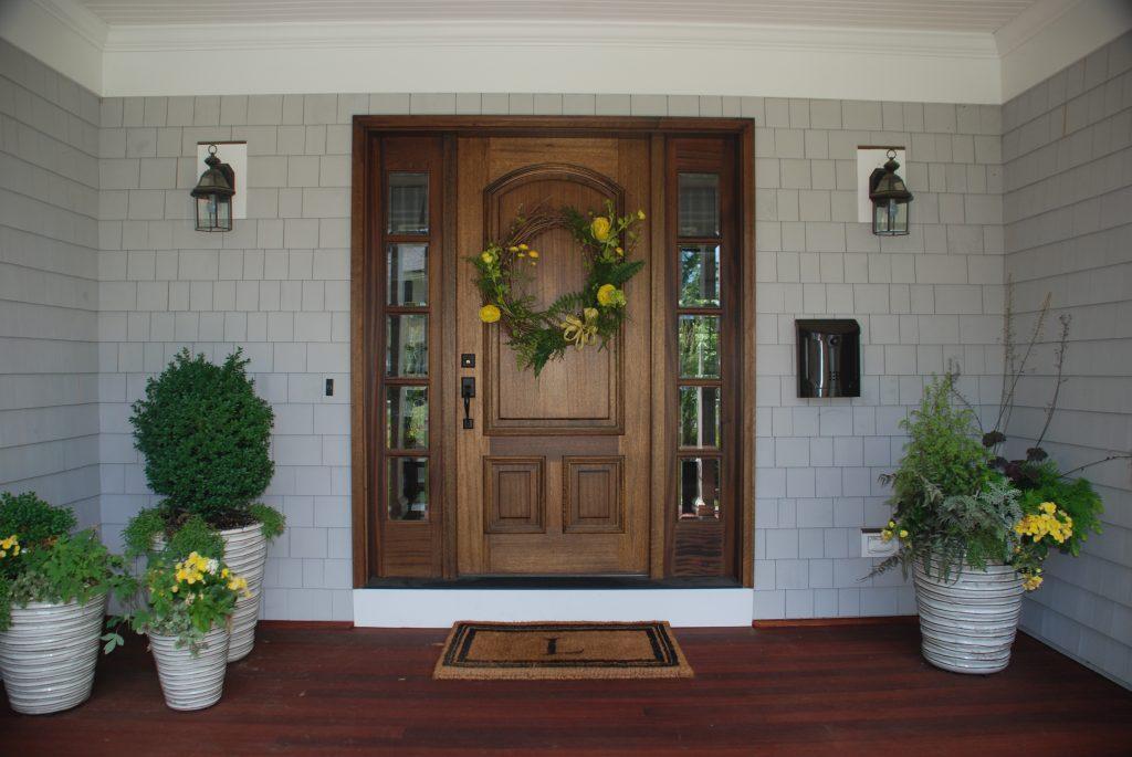 custom colonial home front door