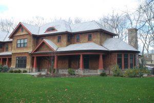 front of rye brook ny shingle style house