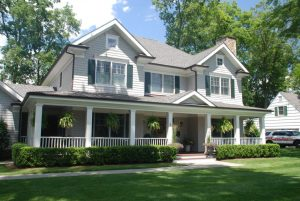 custom colonial home exterior in rye ny by demotte architects