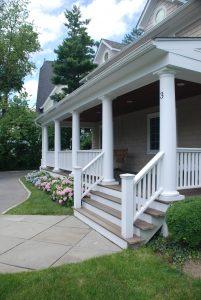 rye ny home porch