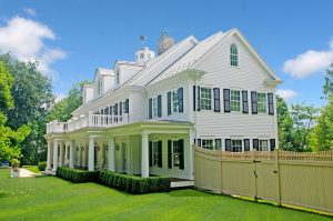 exterior of colonial home by demotte architects