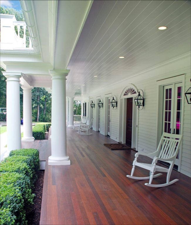 westport ct colonial home porch