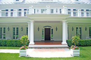 westport ct colonial home entry