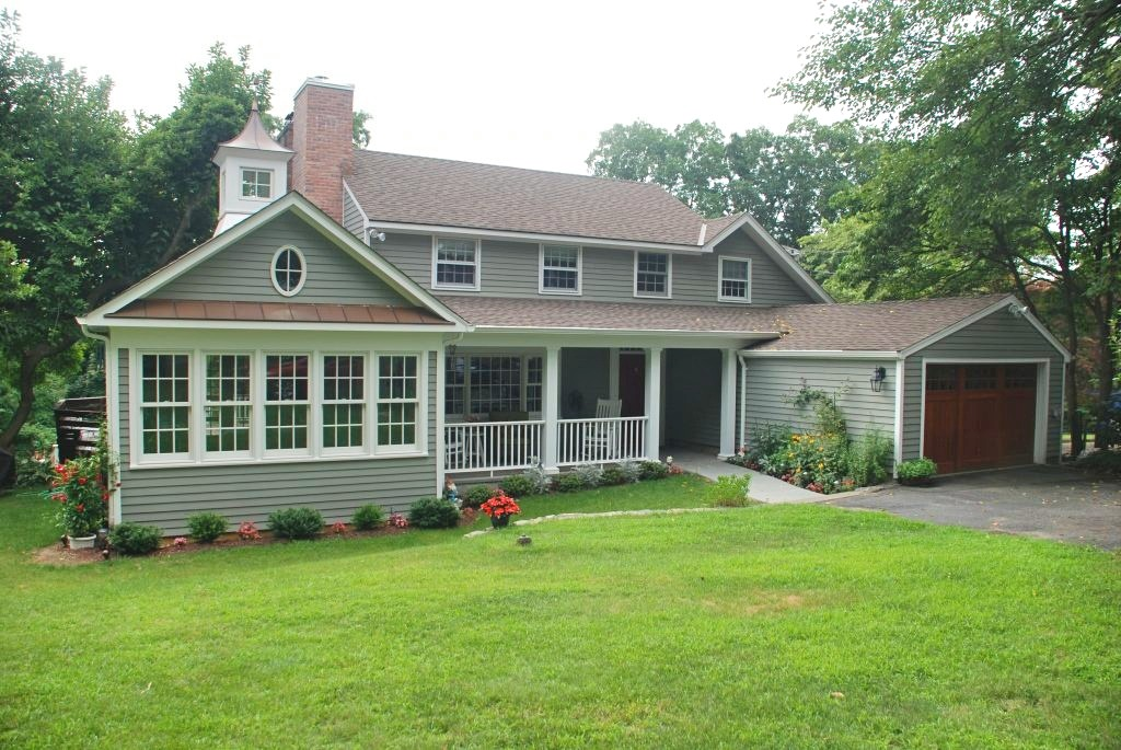 Darien CT home after addition by DeMotte Architects