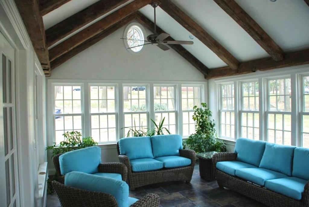Darien CT sun room by DeMotte Architects