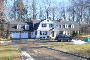 Dutch Colonial addition in Ridgefield CT by DeMotte Architects