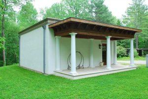 Easton CT Mediterranean garage design by DeMotte Architects