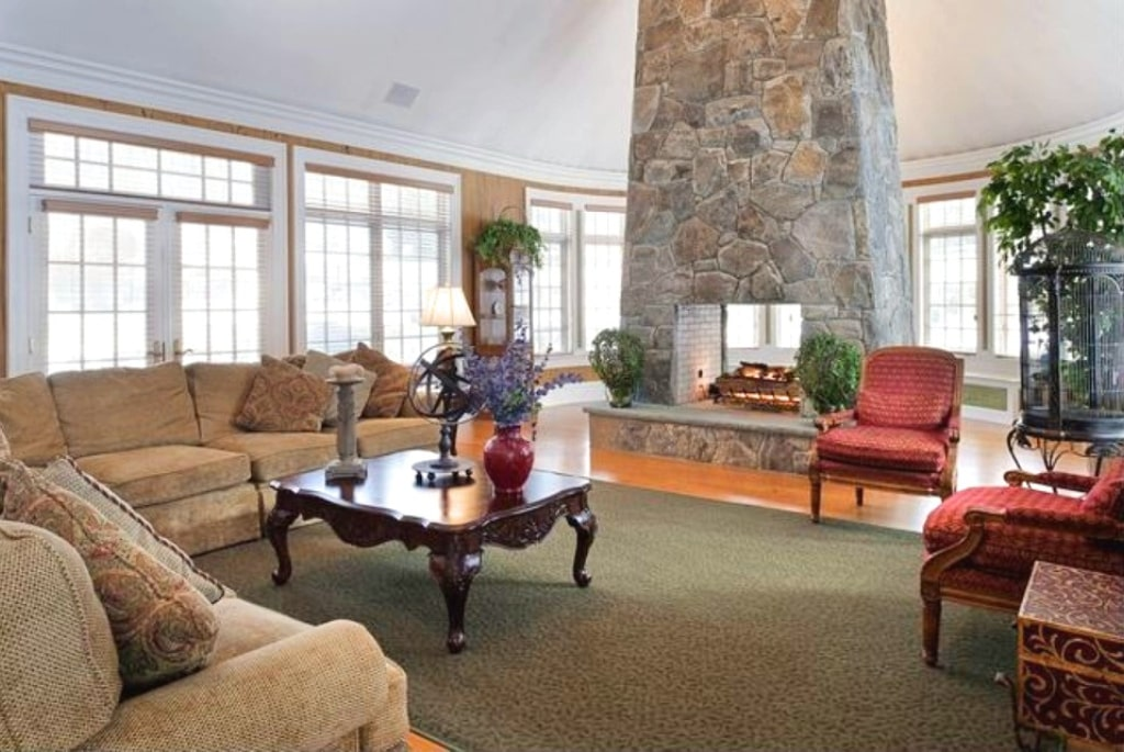 French Country home interior family room